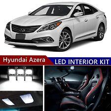 10pcs LED Xenon White Light Interior Package Kit for Hyundai Azera 2011-2016