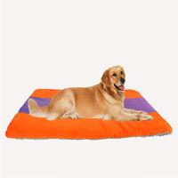Warm Soft Fleece Pet Dog Cat Kennel Puppy Bed Mat Pad Cushion Cozy Soft House