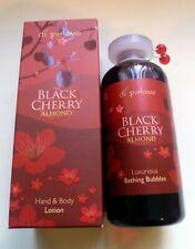 Di Palomo Black Cherry Almond Bathing Bubbles 225mls & Hand & Body Lotion 300mls