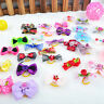 20pcs Assorted Pet Cat Dog Hair Bows with Rubber Bands Pet Grooming Accessories