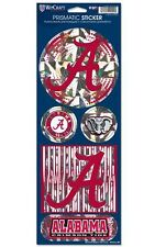ALABAMA CRIMSON TIDE PRISMATIC HOLOGRAPH STICKER DECAL LABEL SHEET OF 5 NCAA