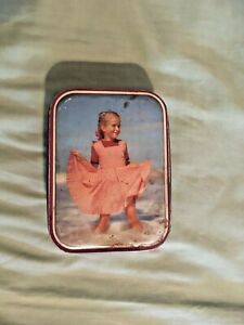 Vintage Tin - Edward Sharp and Sons Girl in Red Dress 60's kitsch