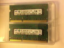 2 banchi Memoria Ram Samsung 1GB 1Rx8 PC3-8500S-07-10-ZZZ M471B2873FHS-CF8