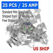 25pc 25 Amp MINI Blade Small Fuse Assortment Auto Car Motorcycle SUV FUSES Kit