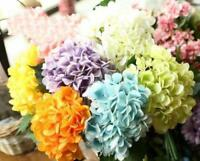 Artificial Hydrangea Fake Silk Flowers Bouquet Wedding Bridal Party Home Decor a