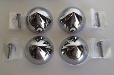 4 Bullet Nose dome Bullet Hub cap custom centers NEW Chrome C8059
