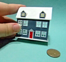 Miniature Doll's Dollhouse Blue in 1:12 doll scale