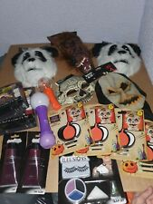 16 Halloween Job Lot Masks Fake Blood Makeup Wands Panda Werewolf Hooded Mask bn