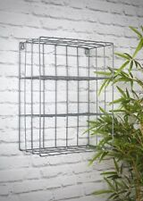 New Retro Industrial Style Wire Wall Shelf Shelving Unit Metal Storage Vintage