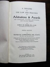 A Treatise on The Law and Practice of Arbitrations & Awards