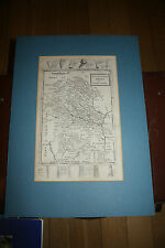 amazing early   STAFFORDSHIRE  MAP by Herman Moll  1724 uncoloured   offers welc