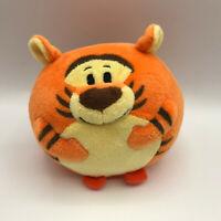 "TY Beanie Ballz Disney Tigger Plush Round 4"" Stuffed Animal Orange Striped Tiger"
