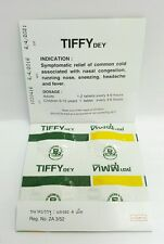 4 TABLETS TIFFY DEY RELIEF COLD NASAL CONGESTION RUNNING NOSE FEVER PAIN