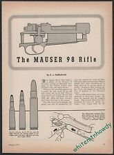 1955 MAUSER 98 Rifle Exploded View Parts List 3-page Assembly Article