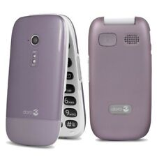 New Doro PhoneEasy 6520 Rose Pink 3G Unlocked Flip Bluetooth Camera Mobile Phone