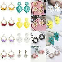 New Personality Flower Ear Stud Fashion Jewelry Pearl Earrings Women Temperament