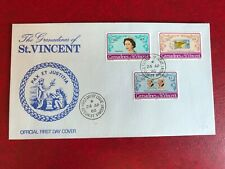 ST VINCENT GRENADINES 1980 FDC LONDON STAMP EXHIBITION QUEEN ELIZABETH 2 ROYALTY