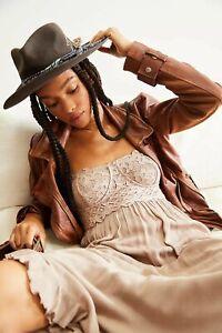 Adella Free People Corset Dress Maxi Ivory Bnwt Small 10/12