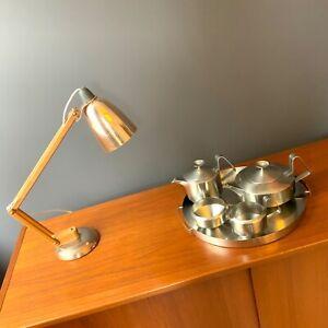 Robert Welch Alveston Stainless Steel 4 Piece Tea Set & Arne Jacobsen Tray