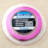 NEW Sea Lion 100% Dyneema Spectra Braid Fishing Line 300M 20lb Magenta