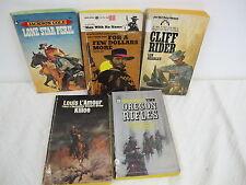 VINTAGE WESTERN BOOKS (5) LONE SRAR PERIL CLIFF RIDER KILLOE OREGON RIFLES FOR A
