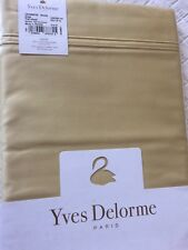 Yves Delorme TRIOMPHE HONEY SATIN FLAT Sheet