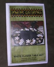 White Flower Table Mat Wool Applique Kit by Primitive Gatherings