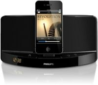 4 Philips Docking Speakers sound dock works with iPOD/iPHONE or Android- TV