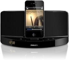 Philips Docking Speaker sound dock works with iPOD/iPHONE or Android-Black TV PC