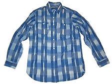 Polo Ralph Lauren Blue Chambray Linen Serape Print Work Shirt XL