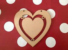 5 Large Wooden Heart Craft Shape