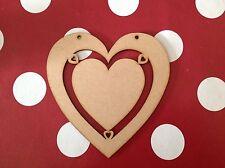 10 X Large Wooden Heart Craft Shape