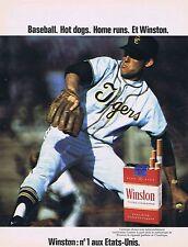 PUBLICITE ADVERTISING 114 1972 WINSTON cigarettes américaines