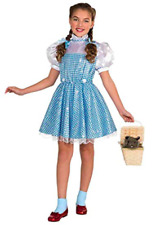 Wizard of Oz Girls Dorothy Costume Sequin Dress Hair Bows SIZE S (3/4 Halloween