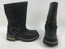 Skechers Motorcycle Logger Harness Work Boots Shoes Black Leather Mens 7 60157