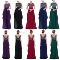 Sexy Women Formal Party Cocktail Gown Prom Long Lace Chiffon Bridesmaid Dress