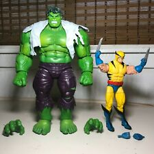 "Marvel Legends Hulk vs Wolverine 2-pack Figure set Hasbro 80th Anniversary 9"" Nr"