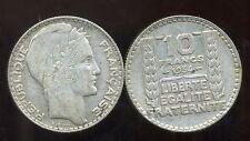 FRANCE  FRANCIA 10 francs  1934  TURIN        ARGENT  SILVER  ( bis )