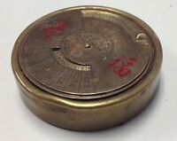 VINTAGE Bronze Round Paperweight Desk Perpetual 50 Year Calendar 1967 2016 B2222