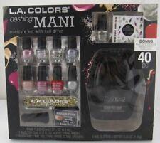 L.A.Colors Dashing Manicure Set Nail Polishes File Dryer Stickers Glitter Mani