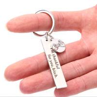 I'm Thankful for You Keyrings engraved Key Chain Keyfob Jewelry Best Friend QA