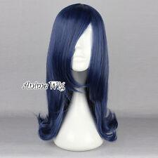 Lolita Dark Blue Mixed Black 45CM Long Wavy Hair Anime Cosplay Wig