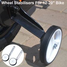 "New White Bicycle Bike Cycle Kids Children Stabilisers 12-20"" Traning Wheels -US"