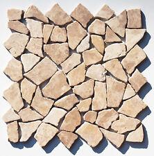 1 qm - M-021 - Mocca Marmormosaik - Fliesen Lager Steinmosaik Herne NRW -
