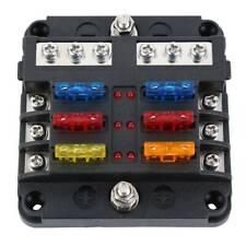 New listing 6 Way 32V Blade Fuse Holder Box Led Block Vehicle Kit for Automotive Car Marine
