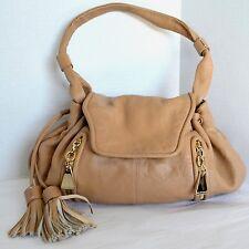 See by Chloé Cherry Hobo Shoulder Bag Womens Nude Leather Satchel Handbag Purse