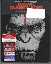 Dawn of Planet of the Apes 3D Blu-ray + Blu-ray + Digital HD Steelbook *New*