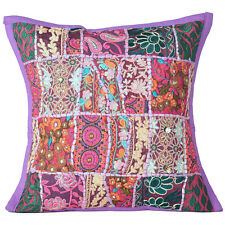 Cover Throw Pillow Patchwork Cushion Case Square Inch 16 Decorative Indian Decor