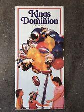 1988 Kings Dominion in Virginia Amusement Park Brochure