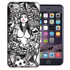 MUNDAZE Apple iPhone 6 Design Case - Tattoo Skull Girl Cover